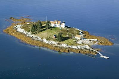 Aerial View of an Island and Lighthouse near Acadia National Park, Maine by Joseph Sohm