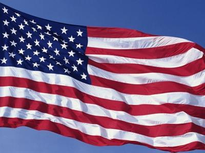 American Flag Blowing in the Wind by Joseph Sohm