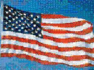American Flag Mosaic by Joseph Sohm