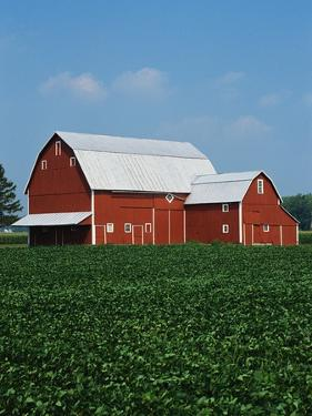 Barn and Corn Field by Joseph Sohm