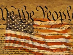 Constitution and U.S. Flag by Joseph Sohm