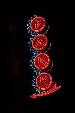 Neon Sign to Park, St. Louis, MO by Joseph Sohm