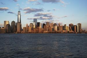 Panoramic View of New York City Skyline on Water Featuring One World Trade Center (1Wtc), Freedom T by Joseph Sohm
