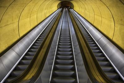 Stairway to Heaven in Washington DC Metrorail Escalator to Mass Transet Trains by Joseph Sohm