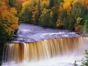 Tahquamenon Falls in Autumn by Joseph Sohm