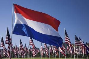 US and Dutch Flag by Joseph Sohm