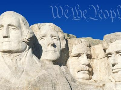 We the People Above Mount Rushmore by Joseph Sohm