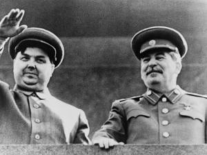 Joseph Stalin and Georgi Malenkov, Watching May Day Parade in Moscow in 1949
