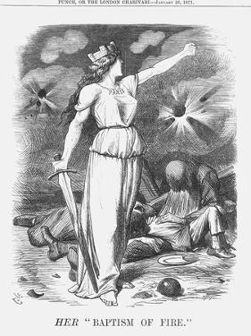 Her Baptism of Fire, 1871 by Joseph Swain