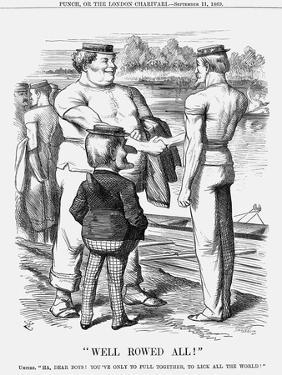 Well Rowed All!, 1869 by Joseph Swain