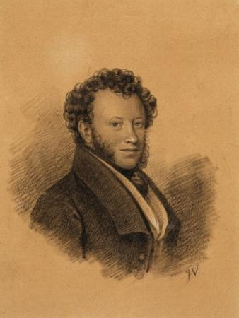 Portrait of the Author Alexander S. Pushkin (1799-183), 1827