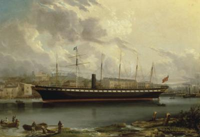 The SS 'Great Britain' leaving Cumberland Basin on her Maiden Voyage, 23rd January, 1845