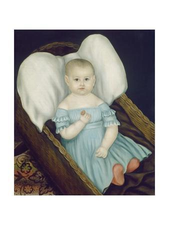 Baby in Wicker Basket, 1840