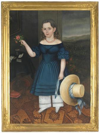Portrait of Martha Otis Bullock (Girl in a Blue Dress), 1841-42