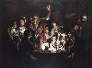 An Experiment on a Bird in an Air Pump by Joseph Wright