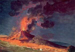 The Eruption of Vesuvius by Joseph Wright of Derby