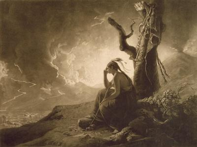 The Indian Widow, 1789 (Mezzotint)