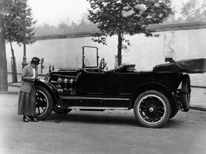Josephine Boston with a 1914 Cadillac