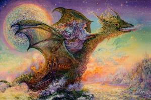 Dragon Ship by Josephine Wall