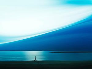 Blue Walk by Josh Adamski