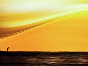 Fishing at Sunset by Josh Adamski