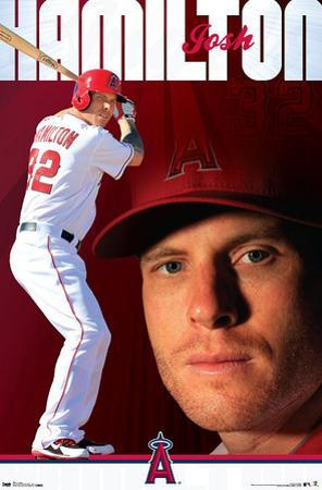 Josh Hamilton - Los Angeles Angels of Anaheim Baseball Poster
