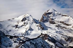 Towering Peaks From the Teton Range Covered in Snow in Early Spring by Josh Howard