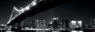 Manhattan Bridge at Night-New York by Joshua Haviv