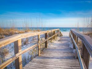 White Sand Beach Pensacola Boardwalk by Joshua Whitcomb