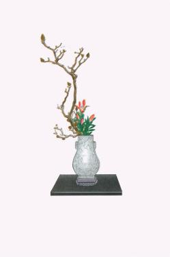 Mokuren & Yuri (Magnolia And Lily) In Kenryu by Josiah Conder