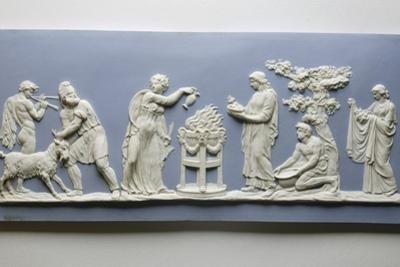 Plaque Depicting the Preparations for the Sacrifice of a Goat, C.1778