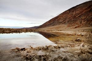 Pool of Salt Water in Desert at Badwater by JoSon