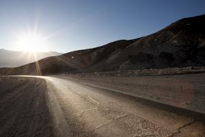 Road through Mountain, Artist Drive, Death Valley by JoSon