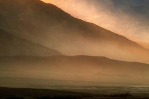 Sandstorm at Mesquite Sand Dunes, Sunset by JoSon
