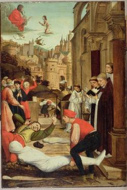 St. Sebastian Interceding for the Plague Stricken, 1497-99 by Josse Lieferinxe
