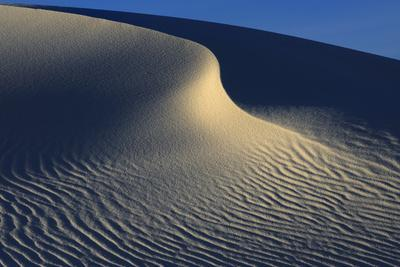 Irregular Ripples On Gypsum Sand Dunes Created By High Winds