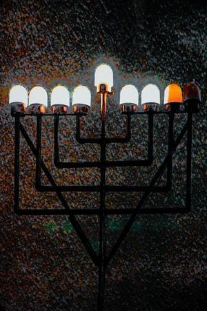 Big Synagogue Menorah, 2018, mixed media