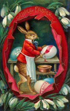 Joyful Easter, Rabbit inside Egg