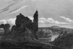 Knaresborough Castle, Yorkshire by JP Neale