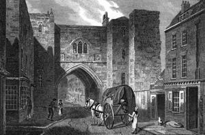 St John's Gate 1815 by JP Neale