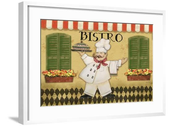 JP1106_Bistro Chef-Jean Plout-Framed Giclee Print