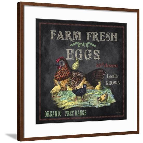 JP2636_Farm Fresh Eggs-Jean Plout-Framed Giclee Print