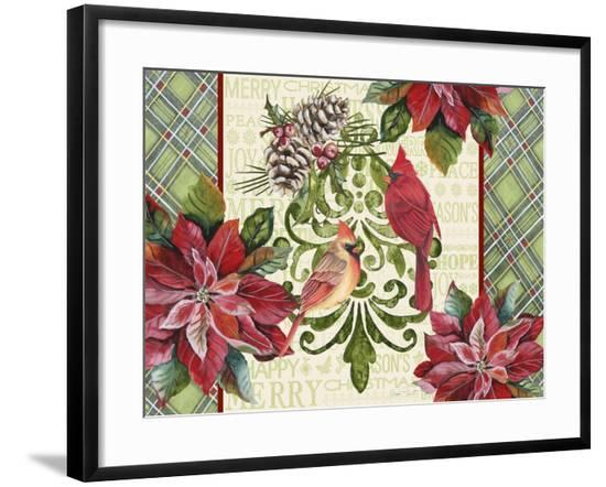 JP3320-Holiday Cardinals-Jean Plout-Framed Giclee Print