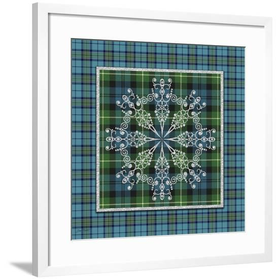 JP3705-Plaid Snowflakes-Jean Plout-Framed Giclee Print