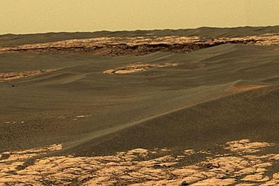 Mars Surface, Opportunity Rover Image