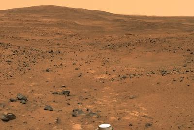 Martian Landscape, Spirit Rover Image