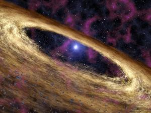 Planetary Disc Around a Pulsar, Artwork by Jpl-caltech
