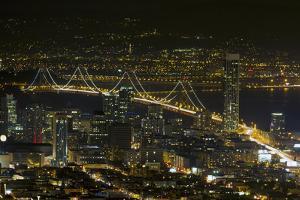 San Francisco Oakland Bay Bridge at Night by jpldesigns
