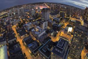 Vancouver Bc Downtown Fisheye View by jpldesigns