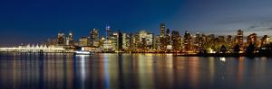 Vancouver Bc Skyline from Stanley Park during Blue Hour by jpldesigns